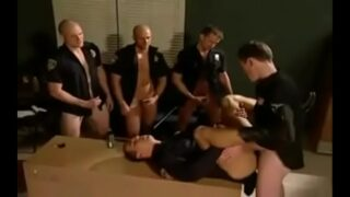 MUSCLE POLICE HAVING ORGY IN OFFICIAL BOOTH
